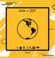 earth icon logo vector image