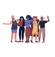 friends characters people holding hands hugging vector image vector image
