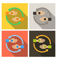 friendship circle on color background hands vector image vector image