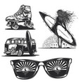 girl with board sunglasses car etc vector image vector image