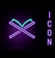 glowing neon line holy book koran icon isolated vector image vector image