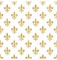 Golden fleur-de-lis seamless pattern white 2 vector image vector image