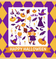 halloween background poster frame with vector image