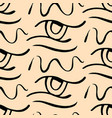 hand drawn eye doodles pattern background vector image vector image