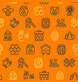 honey signs seamless pattern background on a vector image