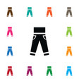 isolated leggings icon jeans element can vector image
