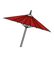japanese umbrella isolated icon vector image