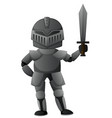 knight with iron armour vector image vector image