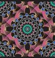 line art colorful geometric seamless pattern vector image