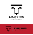 minimalistic lion logo Lion face logotype vector image vector image