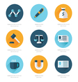 Modern flat icons collection vector image vector image