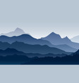 morning in mountains vector image vector image