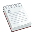 Notepad with blank space isolated vector image