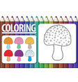 page of coloring book with contour cartoon vector image vector image