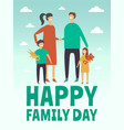 poster design template with pictures of happy vector image vector image