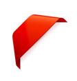 red banner ribbon corner ribbon vector image