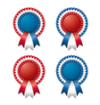 ribbon rosette vector image vector image