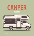 rv camper van or caravan bus vector image