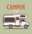 rv camper van or caravan bus vector image vector image