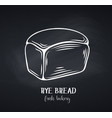 rye bread chalkboard style vector image vector image