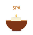 scented candle spa aromatherapy icon vector image vector image