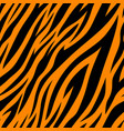 seamless pattern with tiger stripes vector image vector image