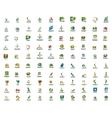 Set of 100 web internet concepts logo icons vector image