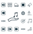 Set of 16 audio icons includes note donate last