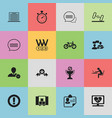 set of 16 editable mixed icons includes symbols vector image vector image