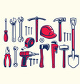 set of worker hand tools vector image