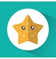 Star cartoon over circle icon graphic vector image
