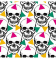 stylized skulls pattern hand drawn swatch with vector image vector image