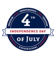 Symbol American 4th July Independence Day vector image vector image