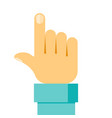 touch icon concept hand vector image vector image