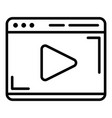 video player icon outline style vector image vector image