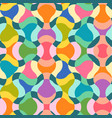 vintage seamless abstract psychedelic pattern vector image