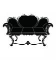 Vintage upholstered sofa vector image vector image