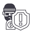 theft thievery steal line icon sig vector image