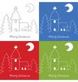 Christmas church doodle vector image