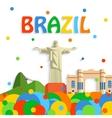 Brazil travel background for tourist banner vector image