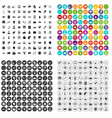 100 data exchange icons set variant vector image vector image