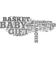 bashower gift baskets practical but perfect vector image vector image