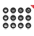 Baskets icons on white background vector image vector image