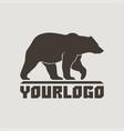 bear logo sign pictogram vector image