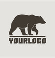 bear logo sign pictograph vector image