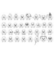 big set of little dogs with different emotions and vector image vector image