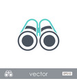 binoculars outline icon summer marine vector image vector image