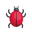 bug icon design over white background vector image vector image