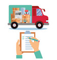 business moving concept storage logistics local vector image vector image