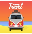 Camper van Summer vacation vector image vector image